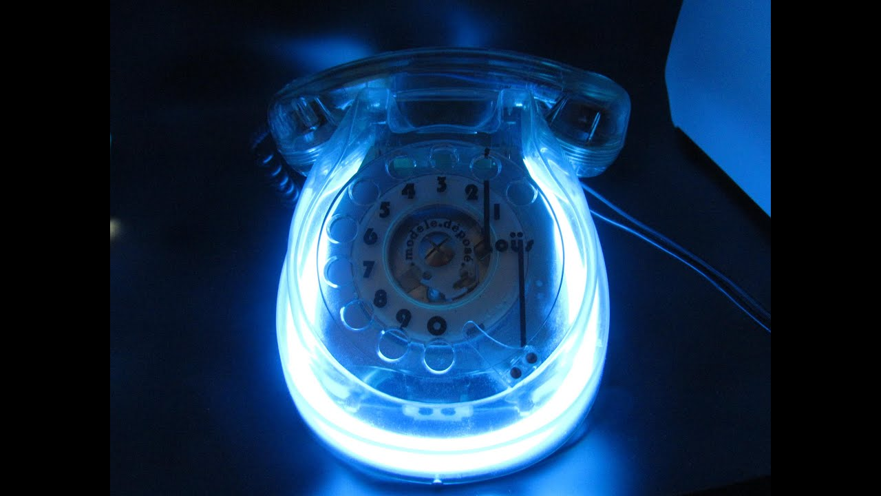 Vintage Kneider Lucite Rotary Telephone Neon Phone  Loys