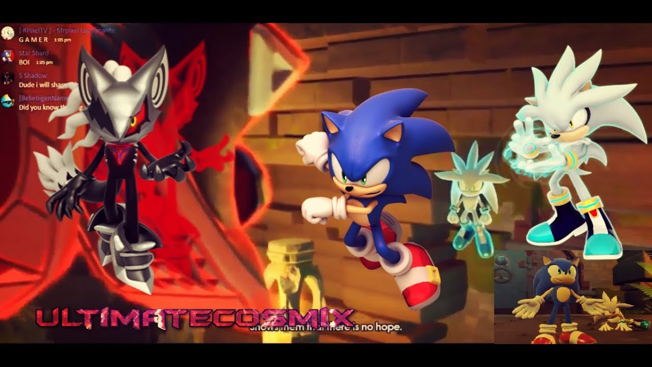 SONIC FORCES - FULL SILVER & SONIC VS INFINITE BOSS ...