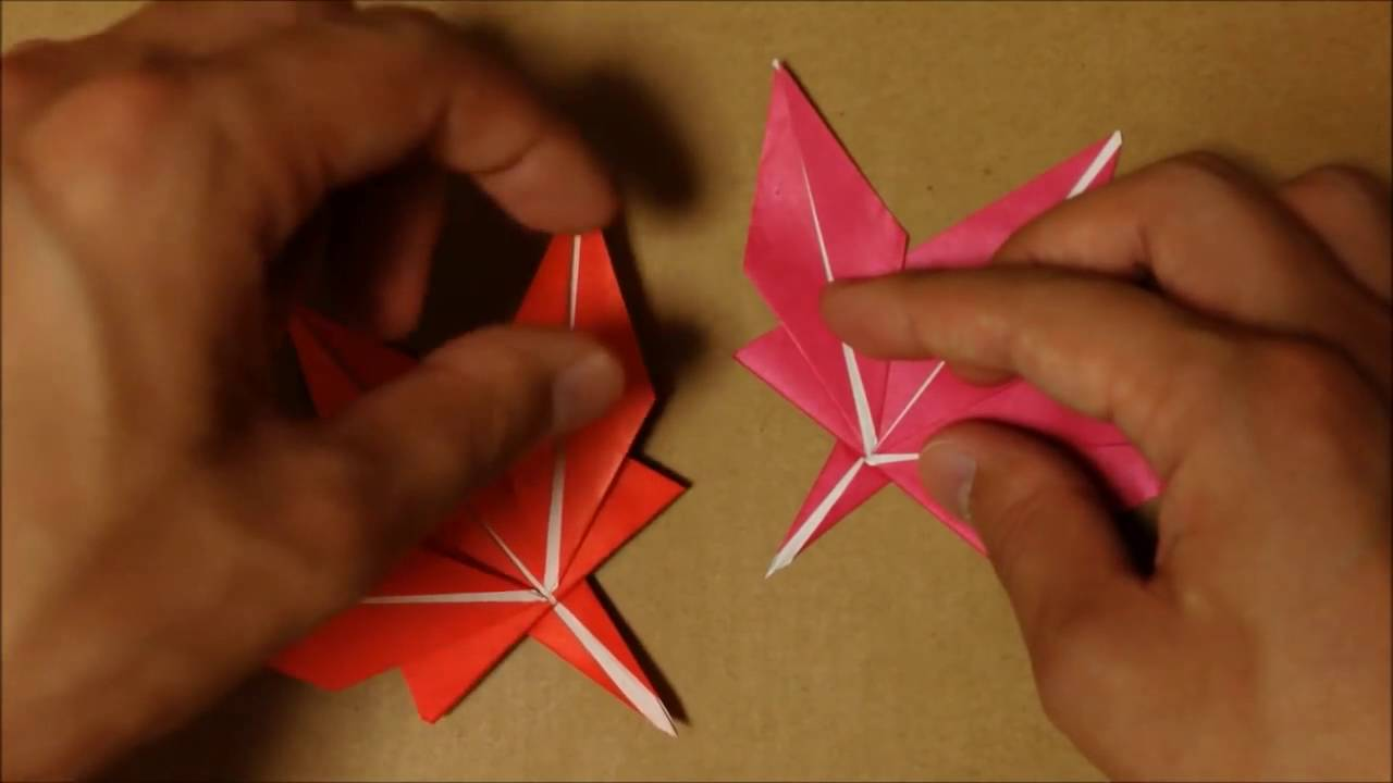 折り紙 『もみじ』 の折り方|Origami maple - YouTube