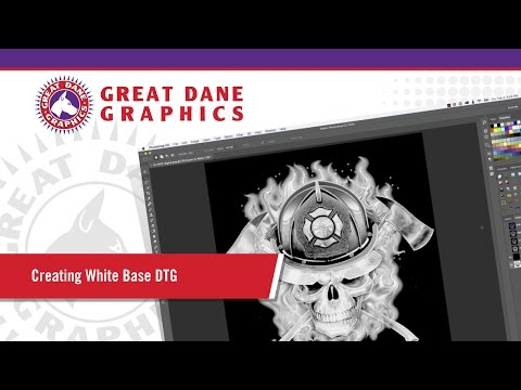 DTG Printing - Creating a White Under Base in Photoshop