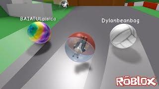 Misket Olup Yarıştık! - Panda ile Roblox Super Blocky Ball
