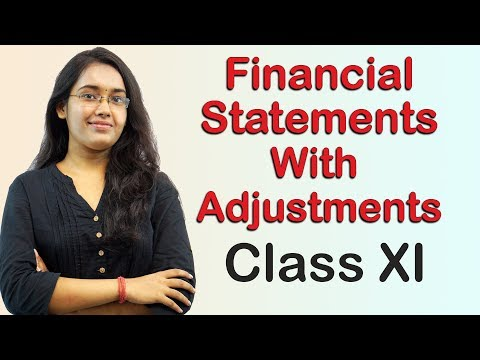 Bad Debts - Financial Statements with Adjustments (Accounts Class 11th)