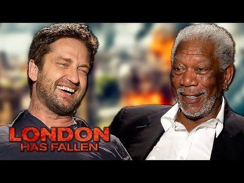 LONDON HAS FALLEN - Funny Interview with Gerard Butler, Morgan Freeman & more