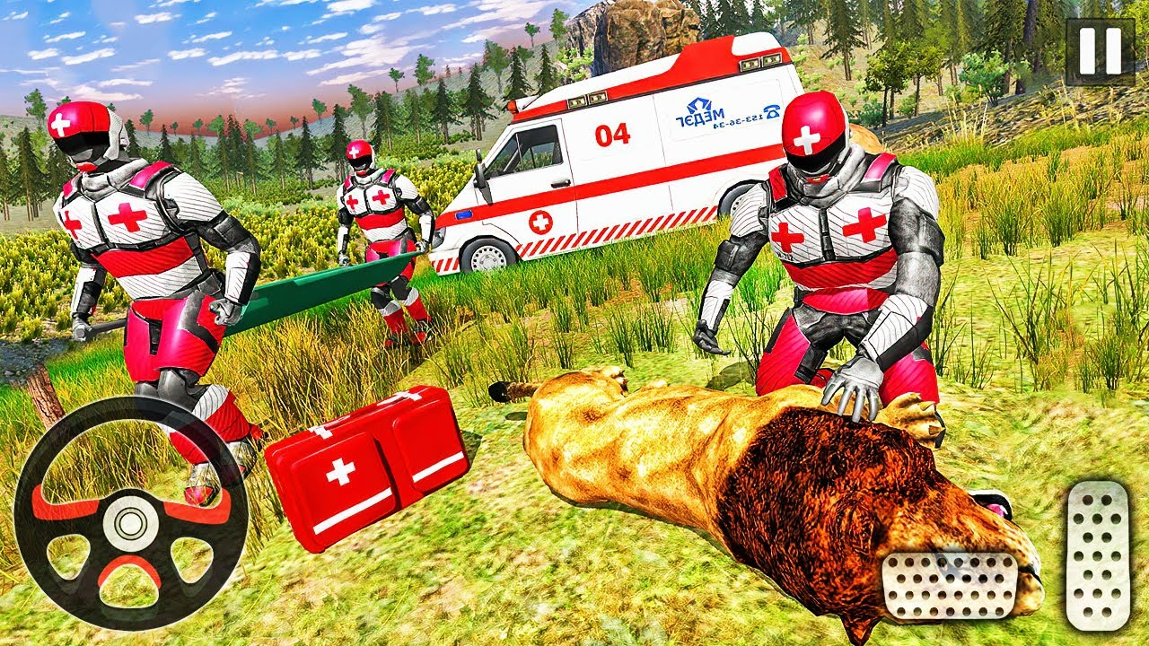 Animals Rescue Game Doctor Robot 3D - Emergency Ambulance Driver Android Gameplay