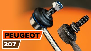 rear and front Stabiliser link installation PEUGEOT 207: video manual