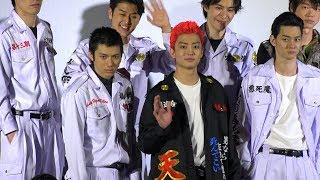 映画『デメキン』の初日舞台あいさつに 俳優の健太郎、山田裕貴、柳俊太...