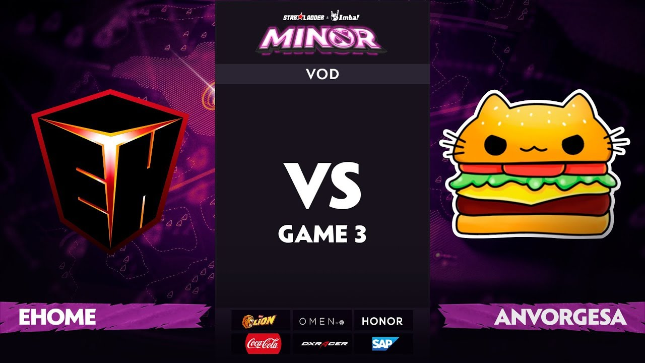 [RU] EHOME vs Anvorgesa, Game 3, StarLadder ImbaTV Dota 2 Minor S2 Group Stage