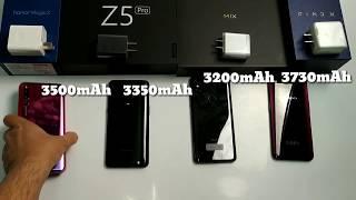Honor Magic 2 vs Lenovo Z5pro vs Mi Mix 3 vs Oppo Find X Battery Charging Test