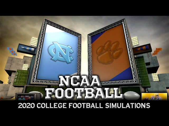 North Carolina vs Clemson 2020 NCAA Football Simulation