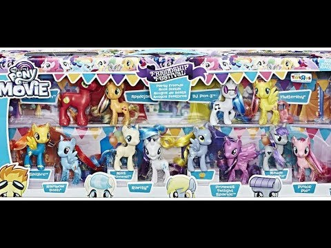 My Little Pony the Movie Friendship Festival Party Friends Collection Pack Toy Review MLPCandy