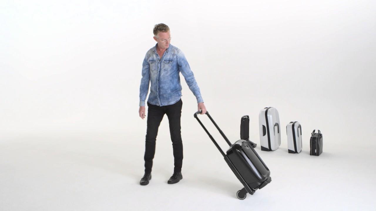 """f251297cf5 """"押して使う""""スーツケース「バガブーボクサー」トークイベント。ケースを選んでシャシーに装着するモジュラー式  11月15日~12月12日に新宿伊勢丹でポップアップストア ..."""