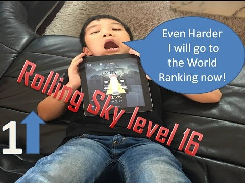 Rolling Sky Level 16 - 1UP (Journey to the Pixel World and World Ranking)