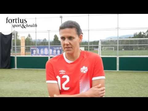 Christine Sinclair, CanWNT Forward, thinks she has the best job in the world