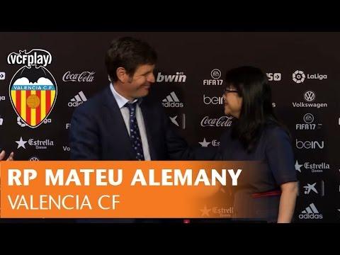 RUEDA DE PRENSA DE MATEU ALEMANY, NUEVO DIRECTOR GENERAL DEL VALENCIA CF