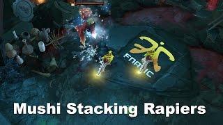 Dota 2 TI5 Mushi Stacking 2x RAPiErs iG vs Fnatic ~100 min