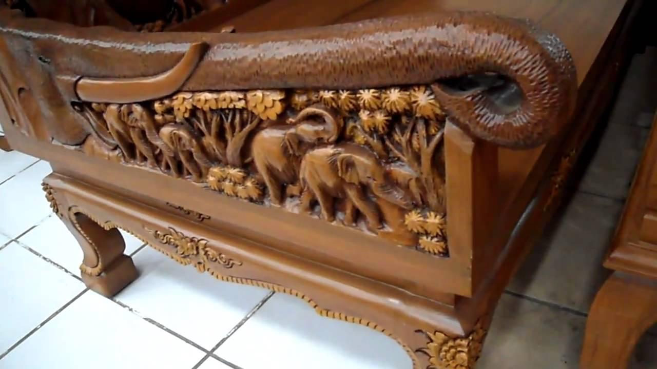 SiamStar.lv   Teak Carving Furniture. Big Chair   YouTube