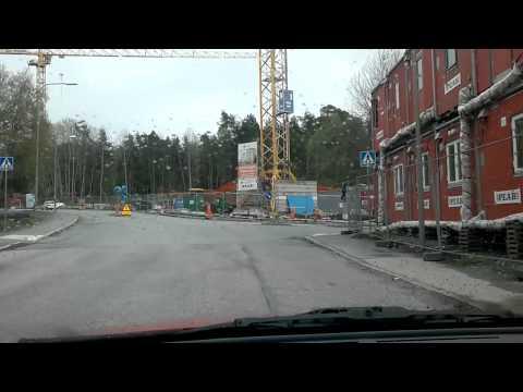 Car Driving in Hökarängen- Farsta Stockholm