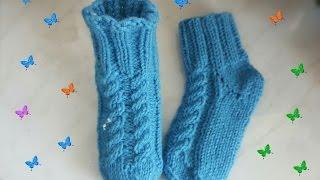 Носки спицами. Простые, для начинающих.