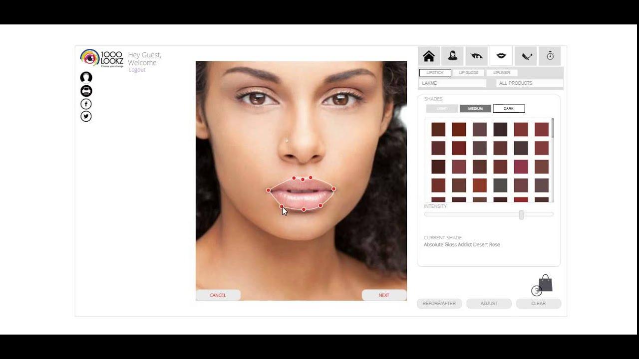 1000lookz Virtual Makeover App Youtube
