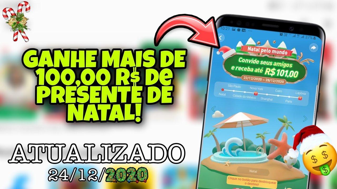 PREMIO DE NATAL! GANHE MAIS DE 100 REAIS COM ESSE NOVO APP.. CONFIRA!!