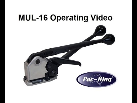 Sealless Combination Tool for Steel Strapping - Operating Video - Pac-King MUL-16 HD