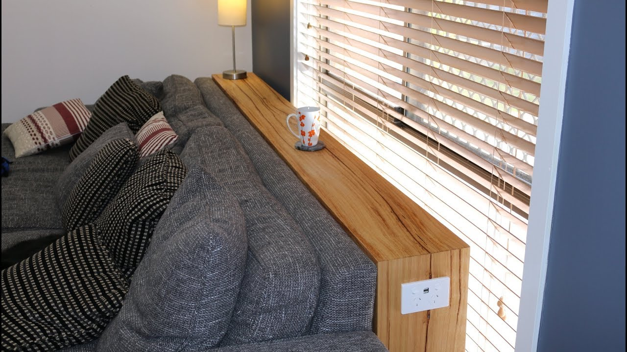 I Make A Waterfall Edge Console Table For Couch With A Usb