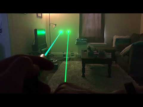 Green Laser Colors! 505nm 520nm 532nm Side By Side.