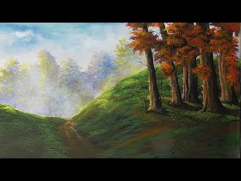 Blending |painting | acrylic landscape painting | paint with joy | 23
