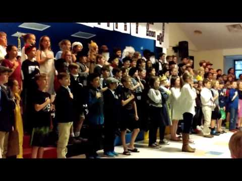 Pledge of Allegiance (French) | Robious Elementary School | International Day