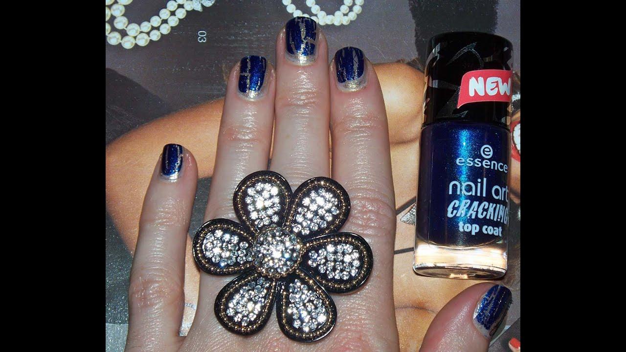 Nail Art Cracking Top Coat Nail Polish By Essence Review Demo