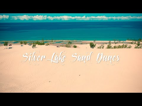 Silver Lake Sand Dunes by drone