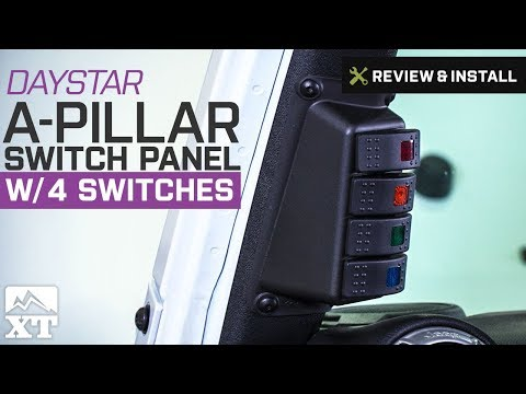 Jeep Wrangler Daystar A-Pillar Switch Panel W/ 4 Switches (2007-2017 JK) Review & Install