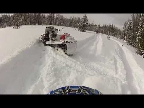 Nice Powder Day Snowmobiling In Fox Park