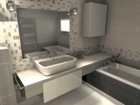 łazienka Opoczno Organza Szara