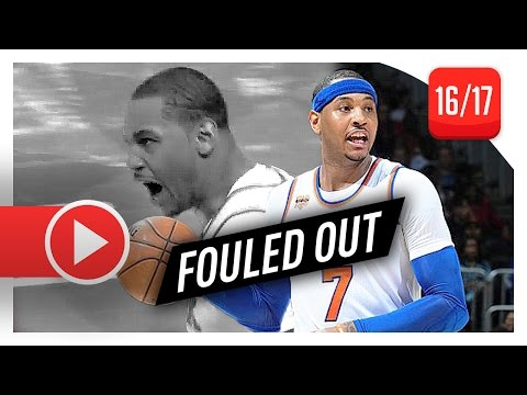 Carmelo Anthony EPIC Full Highlights vs Hawks (2017.01.29) - 45 Pts, FOULED OUT!