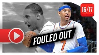 carmelo anthony epic full highlights vs hawks 20170129 45 pts fouled out