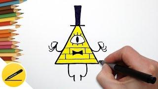 Как Нарисовать Билла из Гравити Фолз | Рисуем Гравити Фолз | Картинки своими руками(Как рисовать Билла Шифра. В этом видео я показываю как нарисовать Билла из мультфильма