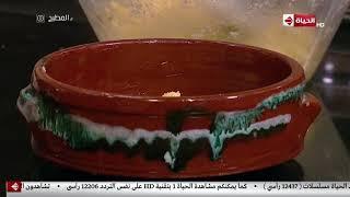 """المطبخ - طريقة عمل """" البسبوسة السادة بحشو القشطة """" على طريقة الشيف أسماء مسلم"""
