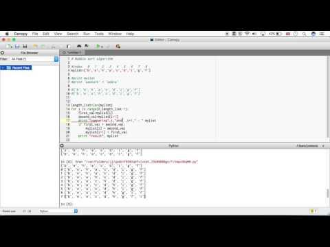 CELL3006: Implementation of the bubble sort algorithm