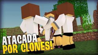 Minecraft: CAÇA OBSIDIAN - FUI ATACADA POR CLONES!