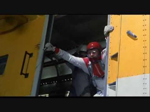 Mighty Morphin Power Ranger Movie: Sky Diving Opening Scene Higher Ground