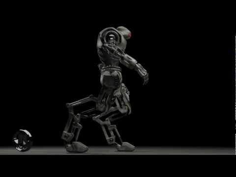 robot 57   test walk with sound effects