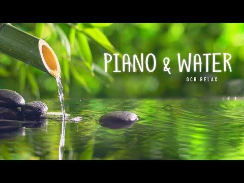 Relaxing Piano Music & Water Sounds 24/7 - Ideal for Stress Relief and Healing