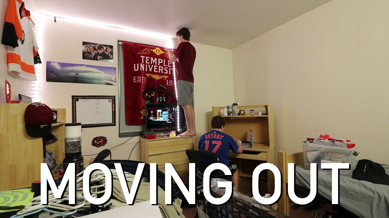 Wonderful Moving Out Of My Freshman Dorm | Temple University Part 27