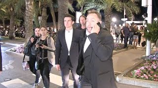 Kate Hudson and Orlando Bloom leaving the The Harmonist party at the Martinez beach in Cannes