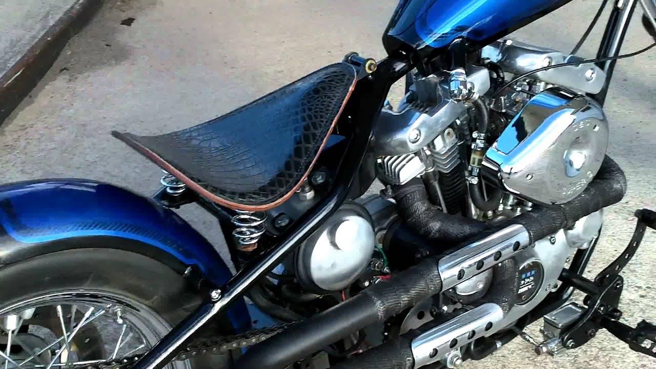 Hardtail walkaround 2007 custom built rigid Harley - YouTube