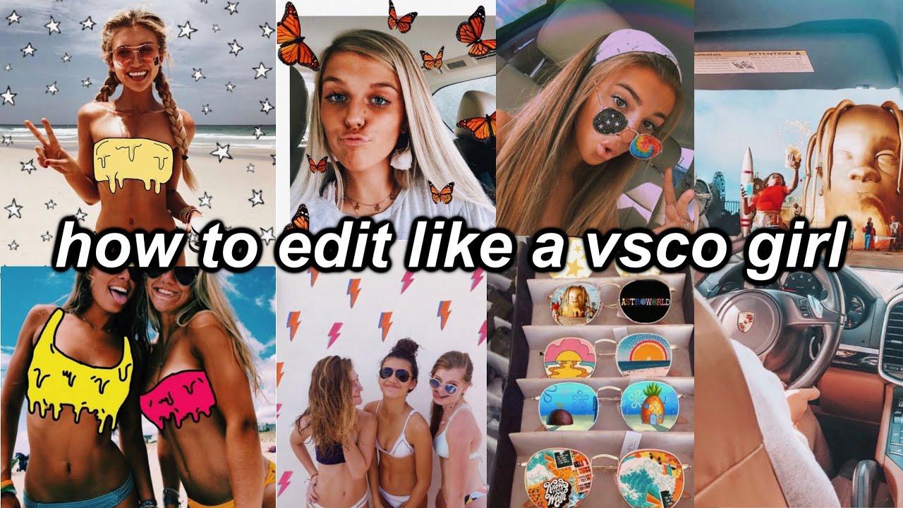 How To Make Vsco Edits Glitter Dripping Bikini Stars Butterflies Adding Backgrounds Youtube