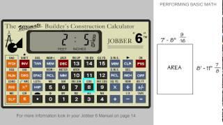 Jobber 6 Construction Calculator - Performing Basic Math