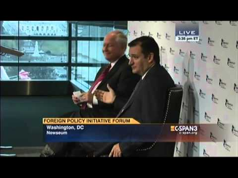 Sen. Ted Cruz at Foreign Policy Initiative Forum with Bill Kristol
