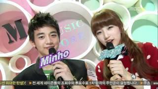 [101113] MBC Music Core Minho Suzy Love